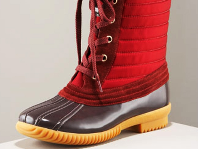 The Duck Boot Goes Haute