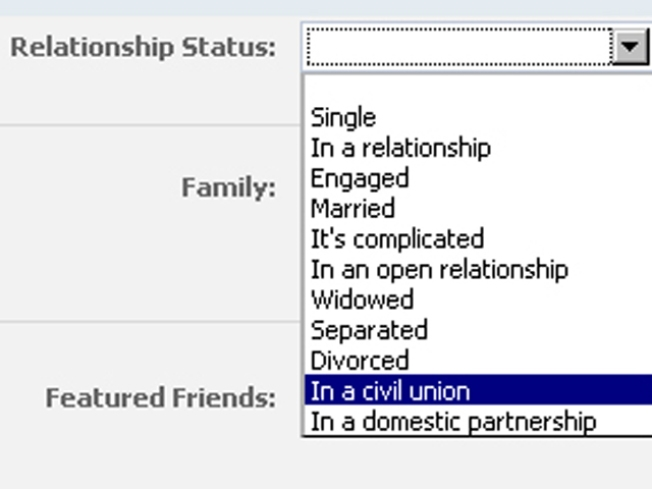 Facebook Now Includes Civil Unions