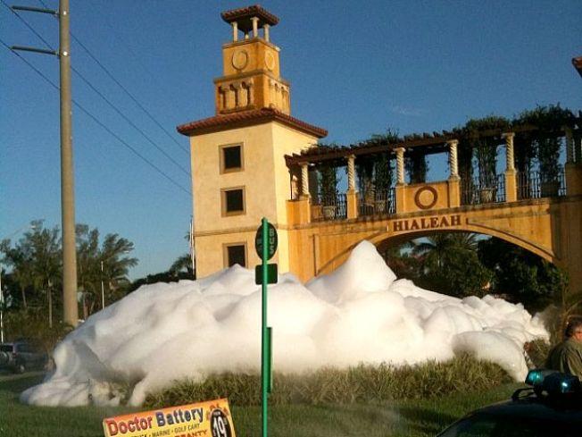 Hialeah Fountain Throws a Suds Party
