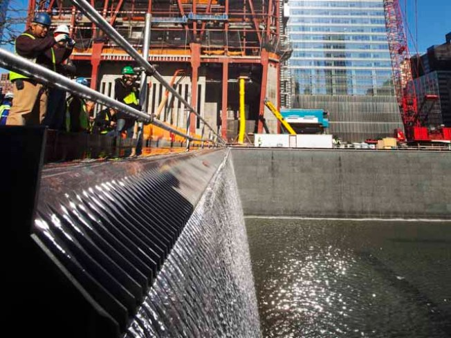 1 World Trade Center Tower Reaches Halfway Mark