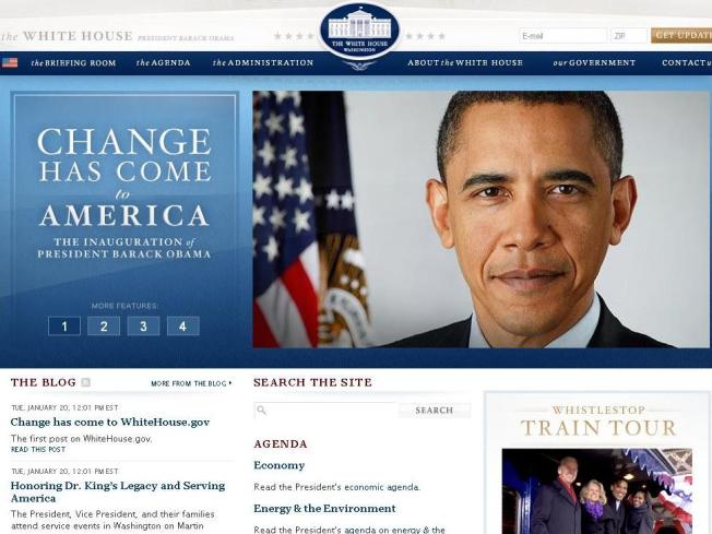Change Comes Swiftly to White House Website