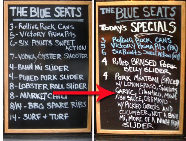 In Response to Poll, Blue Seats Drops Banh Mi Sliders