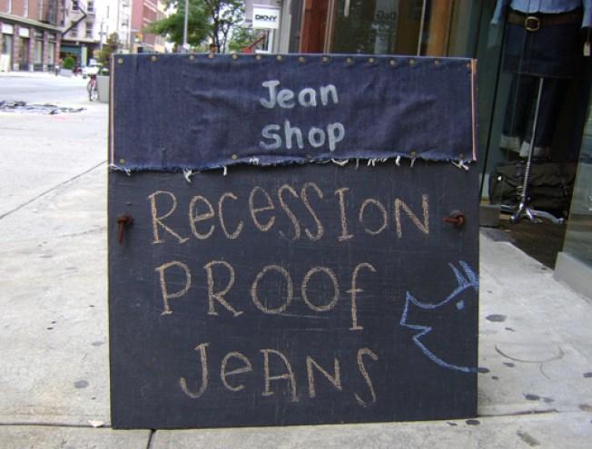 Recession Special: Jean Shop's Encouraging Sign