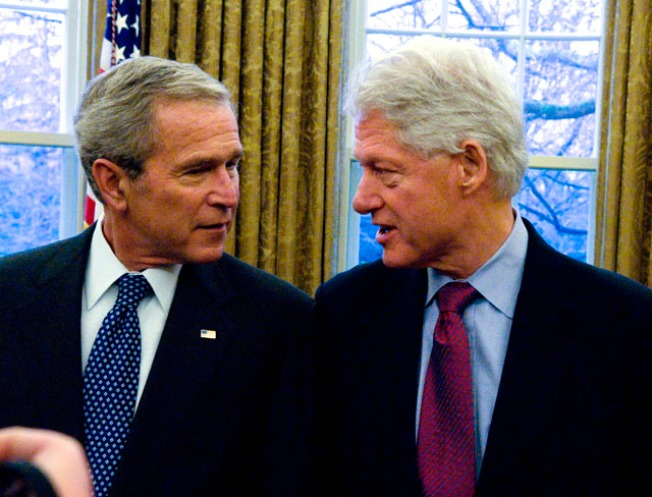 Inauguration Video Vault:  George W. Bush and Clinton