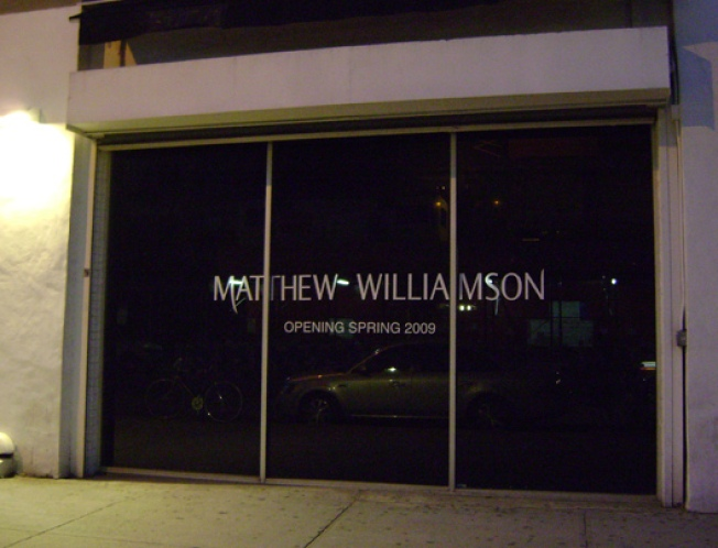 Storecasting: Matthew Williamson Blacks Out in MePa