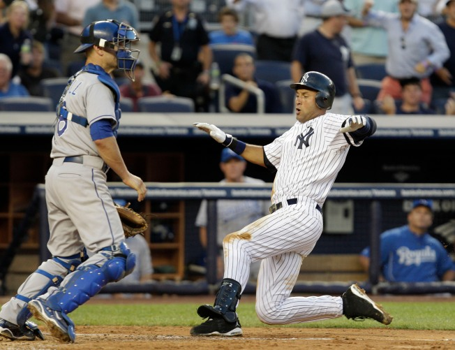 Jeter Hits Inside-the-Park Home Run