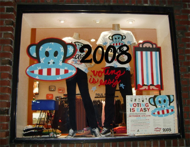 In the Window: Paul Frank Goes Ape For Voting