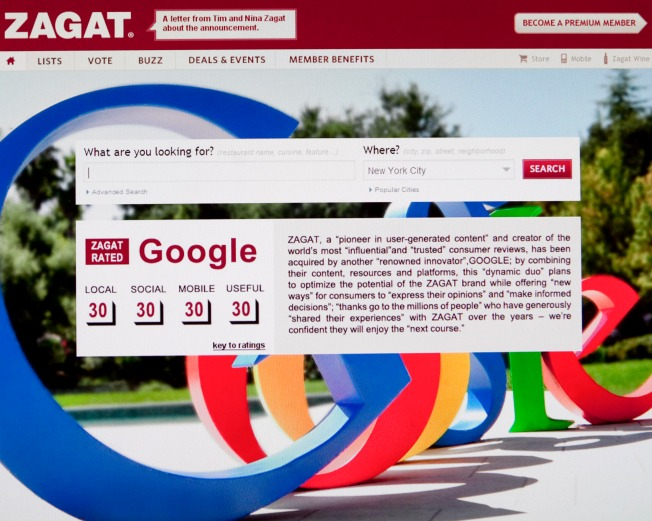 NYC-Based Zagat Bought by Google
