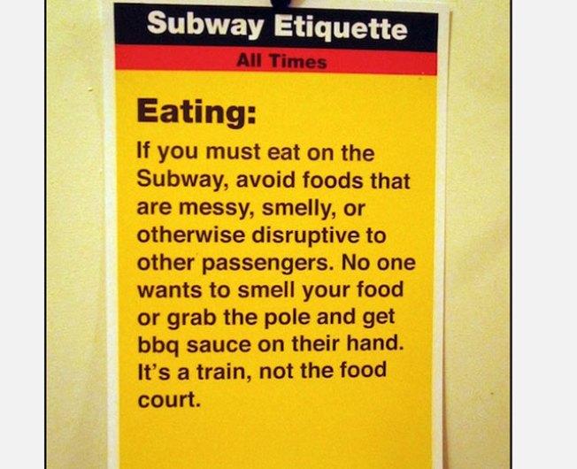 Artist's Subway Etiquette Campaign Takes on Noise, Hygiene