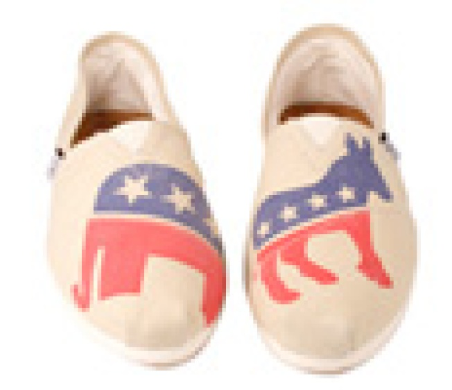 Toms Tallies the Vote: Toms, the footwear brand that donates...