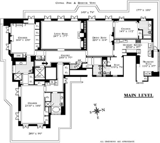 Floorplan Porn: $43 Million Penthouse Washes Away the Pain