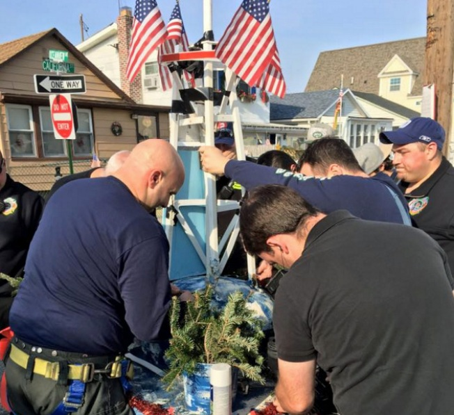 Firefighters Rebuild Vandalized 9/11 Monument on Long Island