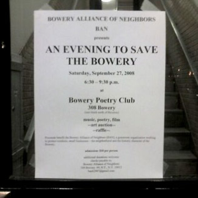 Bowery Association Network to Save Neighborhood From Everyone, Everything