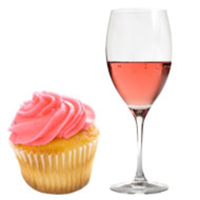 Cupcakes + Wine = Our Heads Finally Exploding