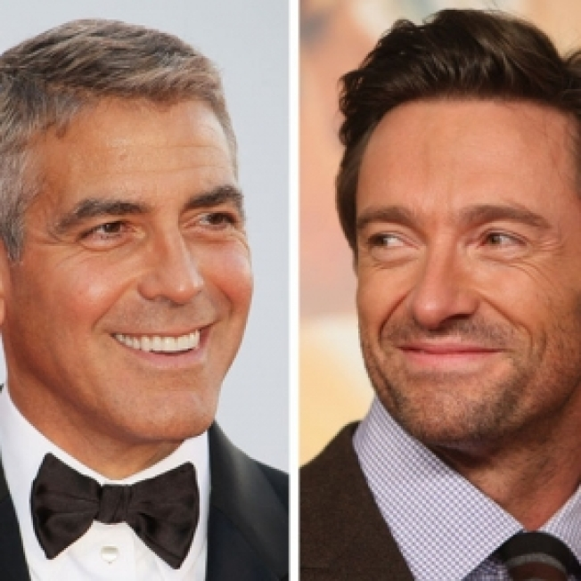 George Clooney Welcomes Hugh Jackman To 'Sexiest Man Alive' Club