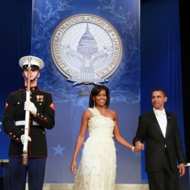 Michelle Obama Steps Out In Jason Wu Gown For Inauguration Balls