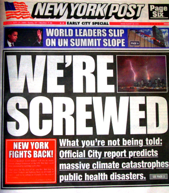 Fake New York Post Turns Red Paper Green