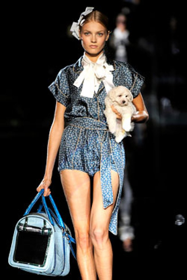 Puppy Walks the Dolce & Gabbana Show in Milan