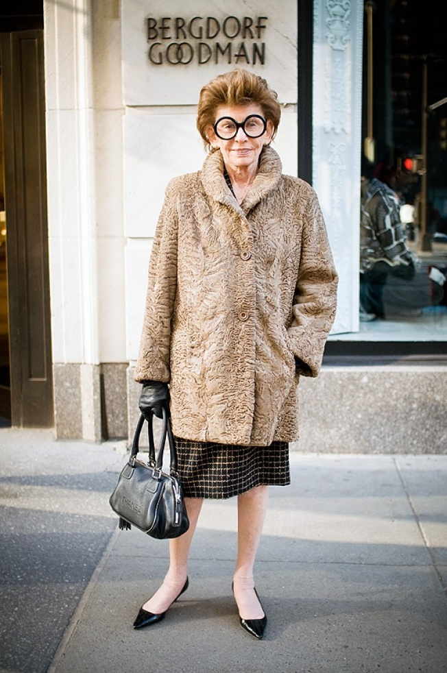 Street Scenes: Elaine on Fifth Avenue