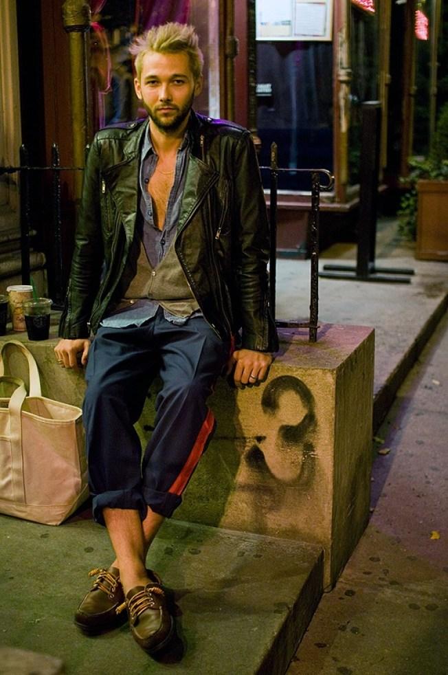Street Scenes: Chris on Bank Street