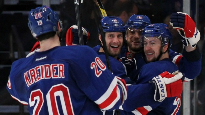 Three Goals in Third Lift Rangers Past Devils