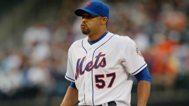 Mets' Santana Goes on 15-Day DL with Ankle Injury