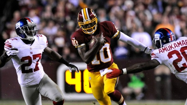 Giants Can't Catch RG3 This Time