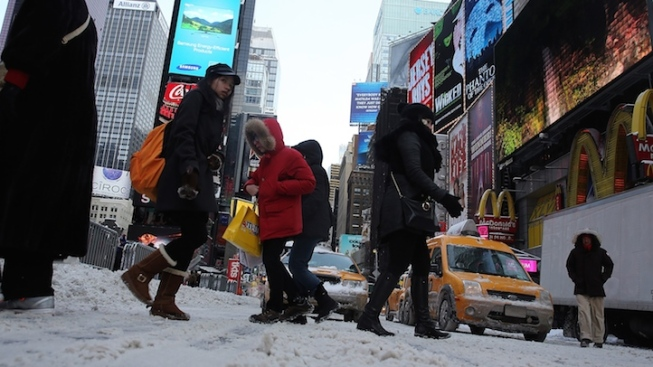 Blizzard Stops Broadway