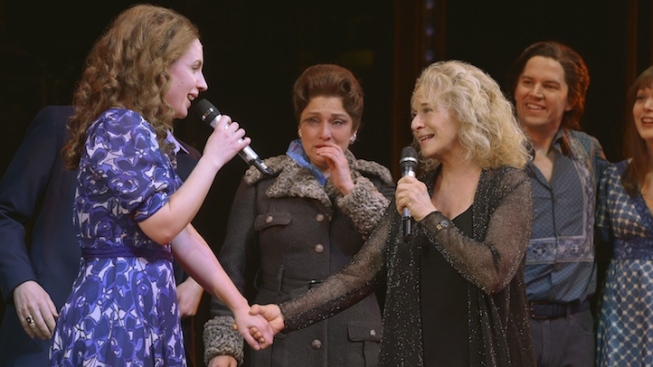 "Carole King Stops by ""Beautiful"""