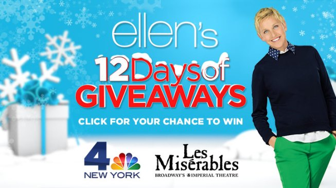click for a chance to win ellens 12 days of giveaways