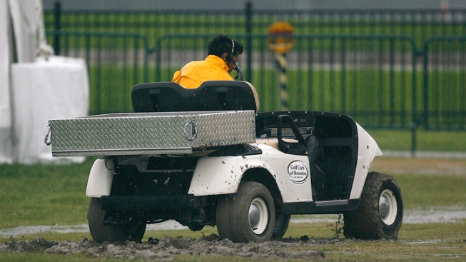 Runaway Cart on Field After Texas Prep Football Game