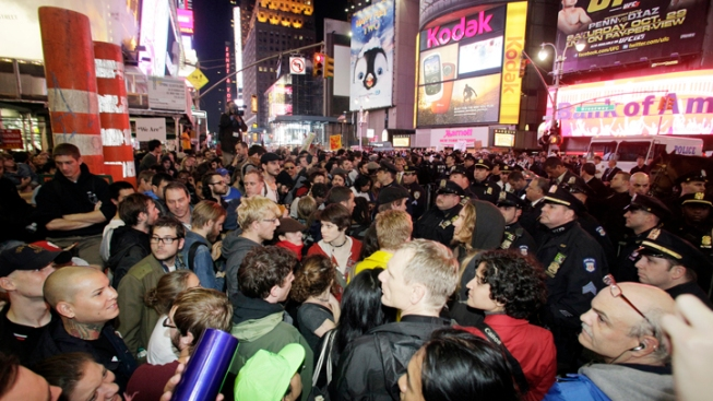 Protesters Occupy Times Square, Police Arrest 92