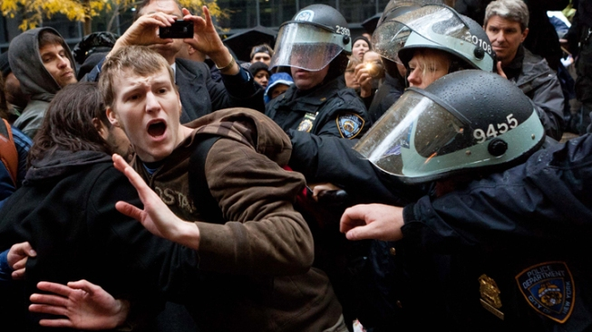 Police Arrest Occupy Wall Street Protesters on New Year's Eve
