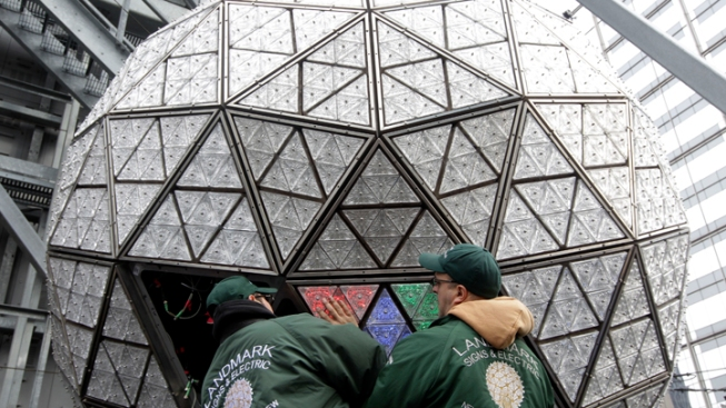 Times Square Ball Ready for 2012 With New Crystals