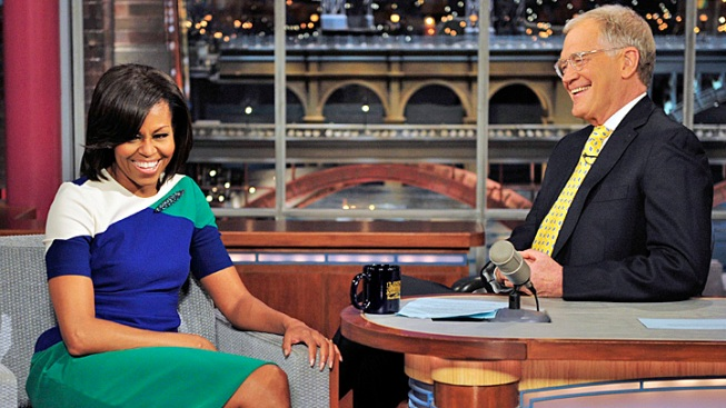 "Michelle Obama to David Letterman: ""Don't Make Me Cry"""