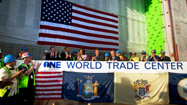 Beam Signed by Obama Raised at WTC