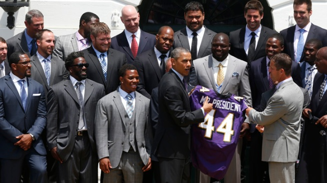 Obama Congratulates Super Bowl Champion Ravens