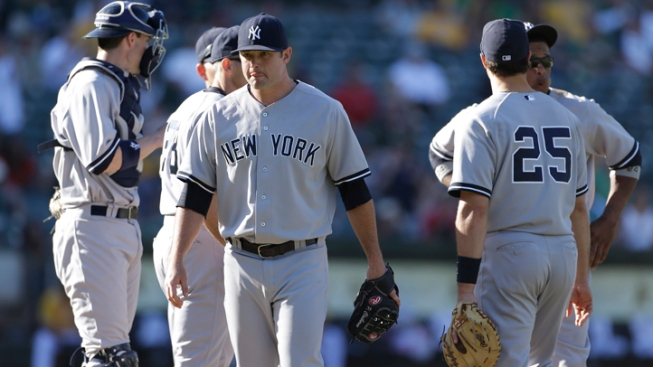 Yankees Miss Chances, Lose to A's in 18 Innings