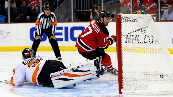 Brodeur Earns 120th Shutout as Devils Top Flyers