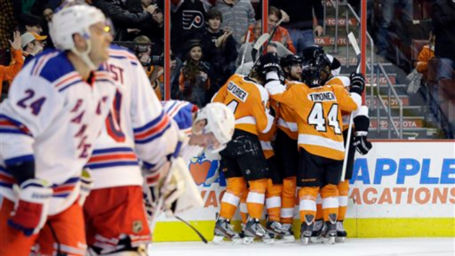 Rangers Fall to Flyers 2-1