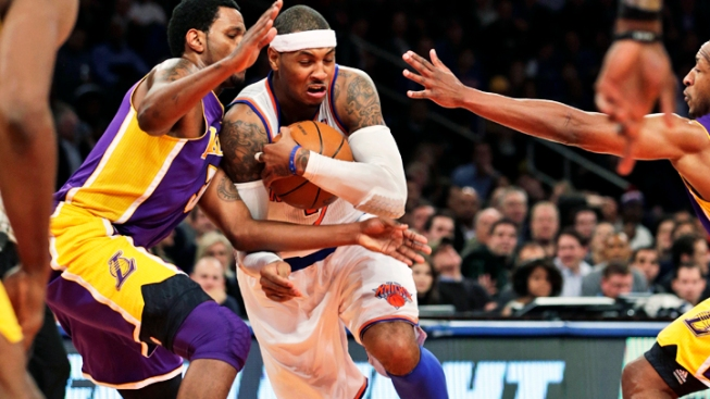 Anthony Out for Knicks with Sprained Left Ankle