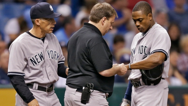 Granderson Hit by Pitch, Has Broken Finger