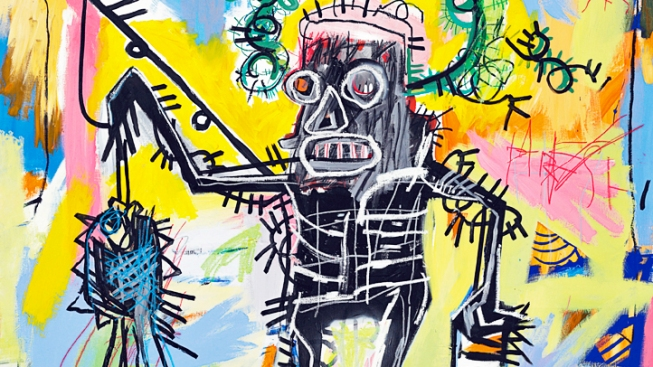 Work by Graffiti Artist Basquiat Set for NYC Sale