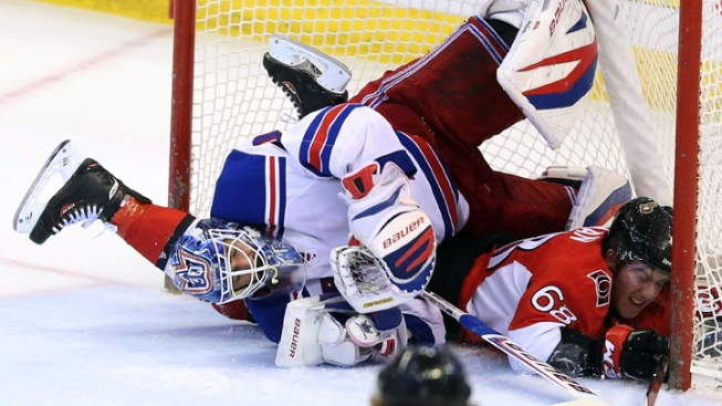 Rangers Can't Solve Bishop in 3-0 Loss to Senators