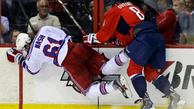 Rangers Beaten by Capitals 3-1 in Game 1