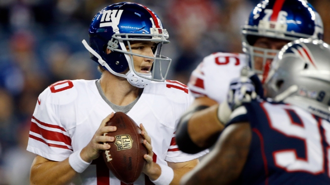Tebow Throws 2 TDs as Patriots Beat Giants 28-20