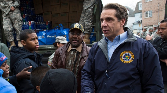 Cuomo Demands Action on Federal Storm Aid