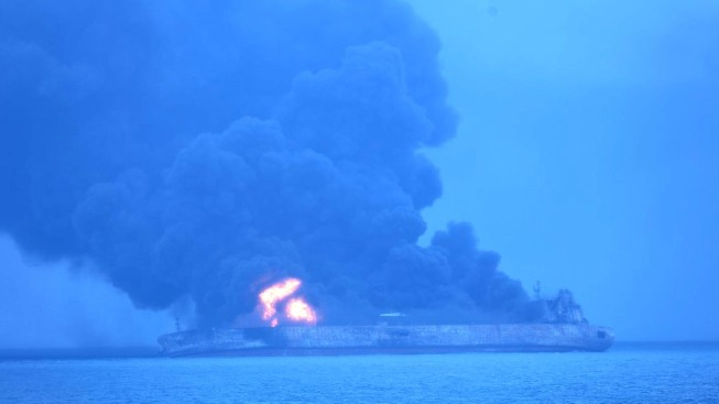China Suspends Firefighting Efforts After Tanker Explosion