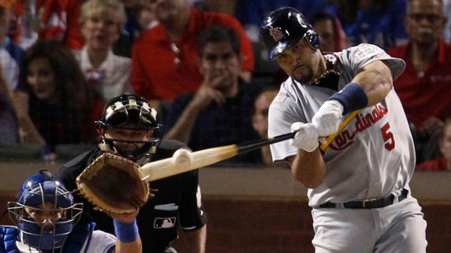 Albert Pujols Smashes 3 Home Runs in World Series Win