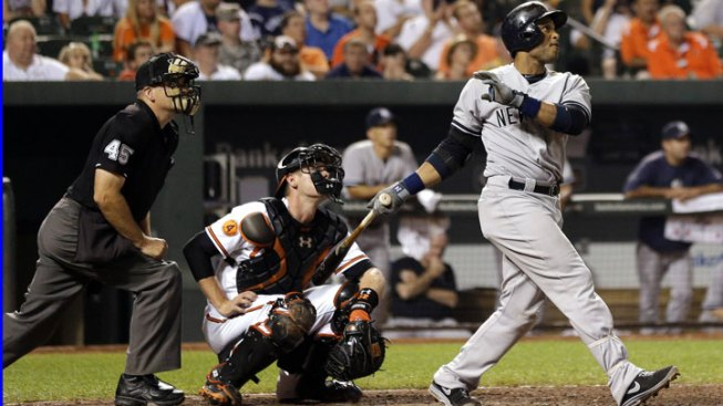 Yankees Hit 3 HRs in 5-4 Win Over Orioles